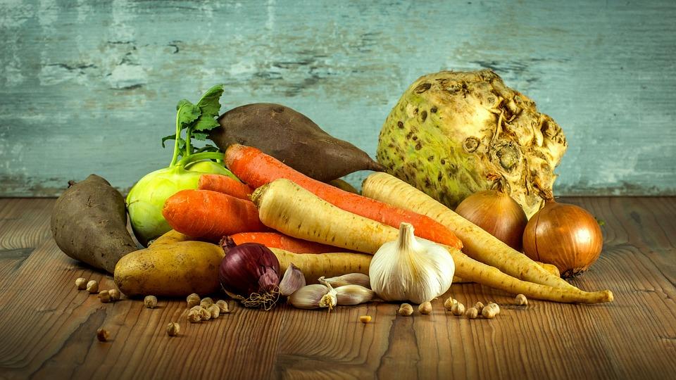Rodfrugter og grøntsager