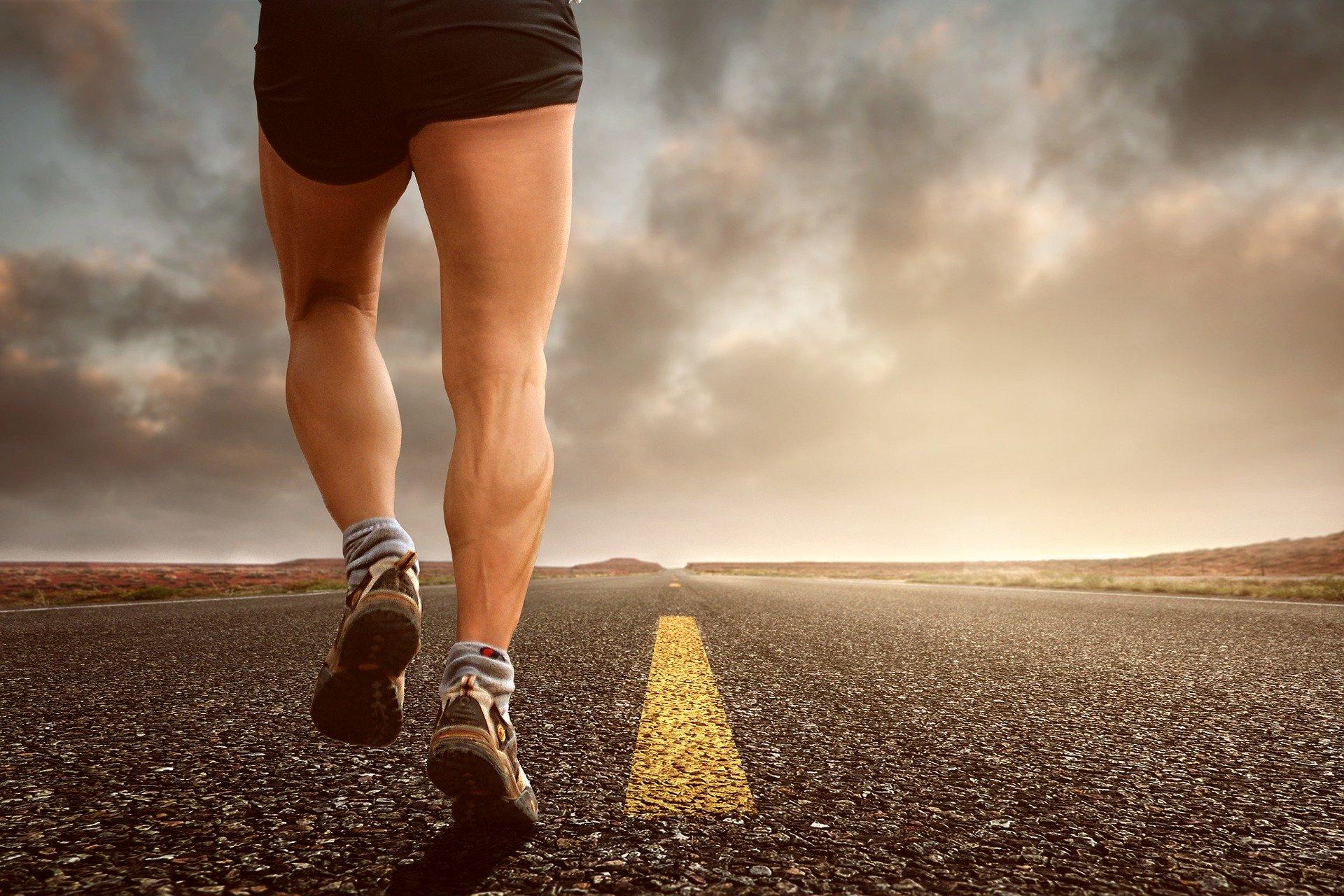Jogging på vej